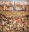 """Mittelteil von Bosch Triptychon """"Der Garten der Lüste"""""""